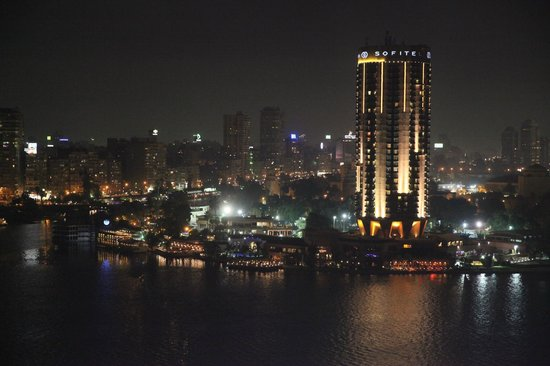 Grand Nile Tower: night view