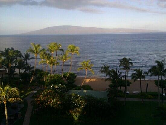 Marriott's Maui Ocean Club - Molokai, Maui & Lanai Towers: sunrise from our balcony... this must be what heaven is like.
