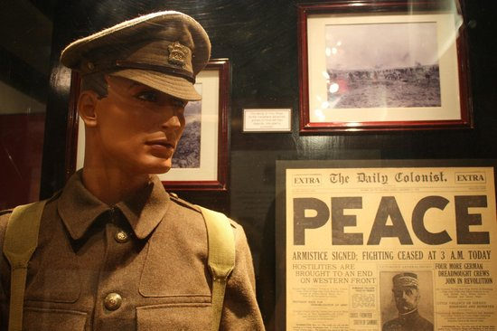 Sidney Museum & Archives: The Sidney Musuem, First World War display