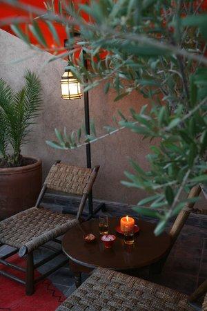 Riad Boussa: Terrasse