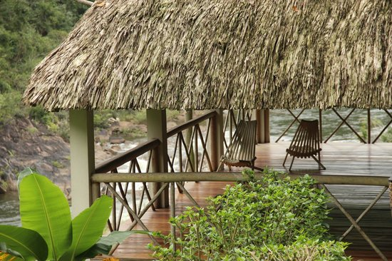 Black Rock Lodge : Yoga Palapa overlooking the Macal River