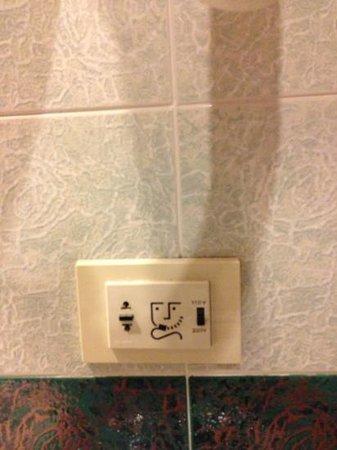 Hotel Malaspina: presa elettrica del bagno