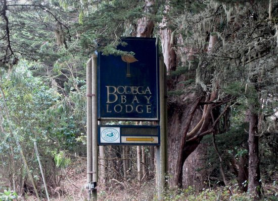 Bodega Bay Lodge: Sign From Highway 1