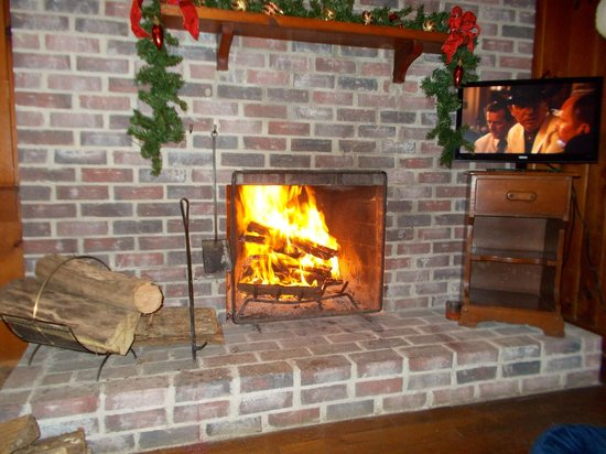 The Pines Cottages : fireplace