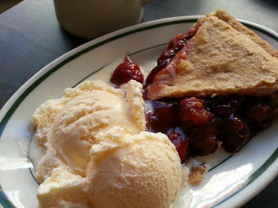 The Beverley: Cherry pie with vanilla ice cream.