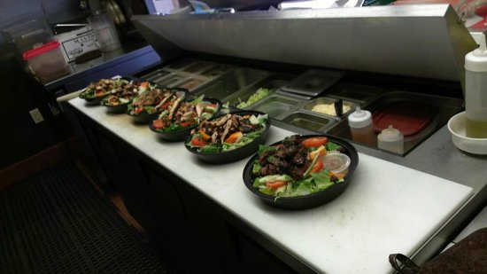 Lexington, MA: Grilled Chicken Salads and a Steak Tip Salad