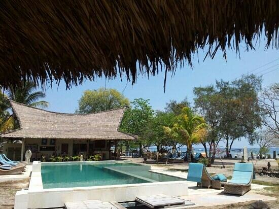 Satu Tiga Resort: View from side bungalows.