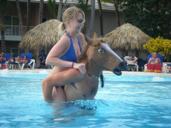 Grand Palladium Palace Resort Spa & Casino: Just horsing around