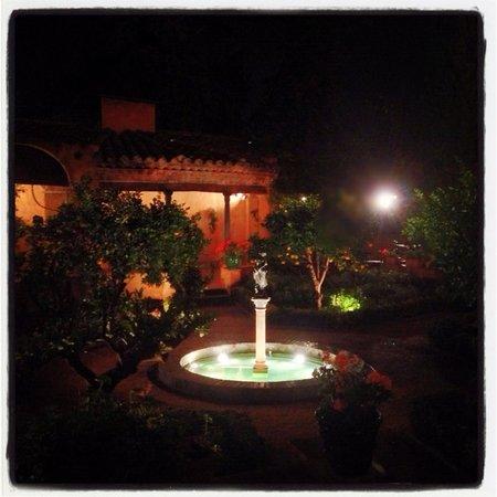 Hotel Mas la Boella: Hotel courtyard