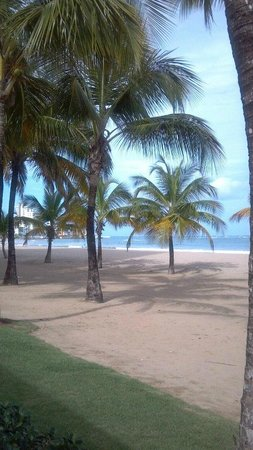 Courtyard by Marriott Isla Verde Beach Resort: Outside dining at Salsa, right on beach