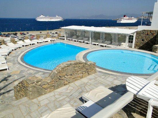 nice swimming pool picture of porto mykonos hotel mykonos town tripadvisor