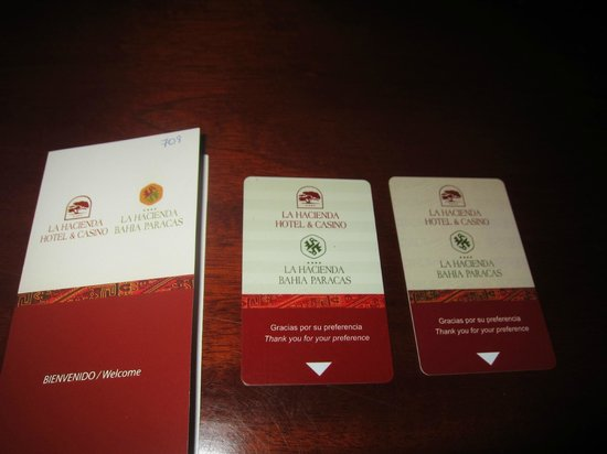 La Hacienda Miraflores: Our Room Keys