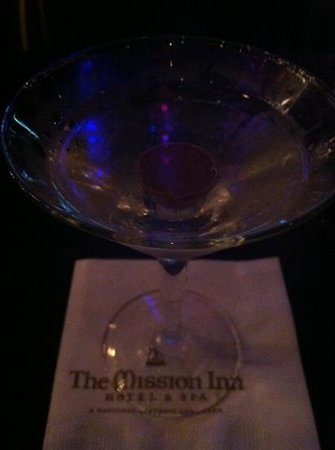 The Mission Inn Hotel and Spa: chocolate martini