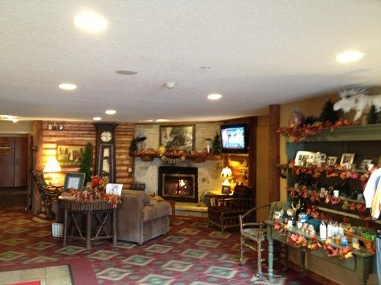Stoney Creek Inn - Quincy: Cozy fireplace in the lobby
