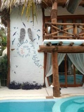 Holbox Hotel Casa las Tortugas - Petit Beach Hotel & Spa: Pensamiento fuera del spa