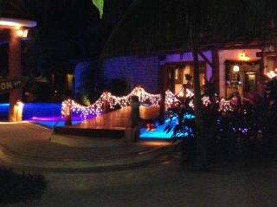 Holbox Hotel Casa las Tortugas - Petit Beach Hotel & Spa: Pequeño puente a la recepción por encima de alberca