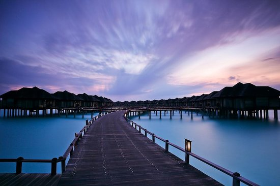 The Sun Siyam Iru Fushi Maldives: sunrise picture of water villa