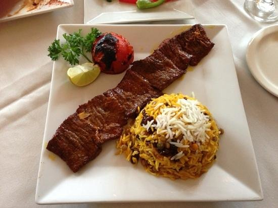 Marjan Fine Persian Grill: steak kabab
