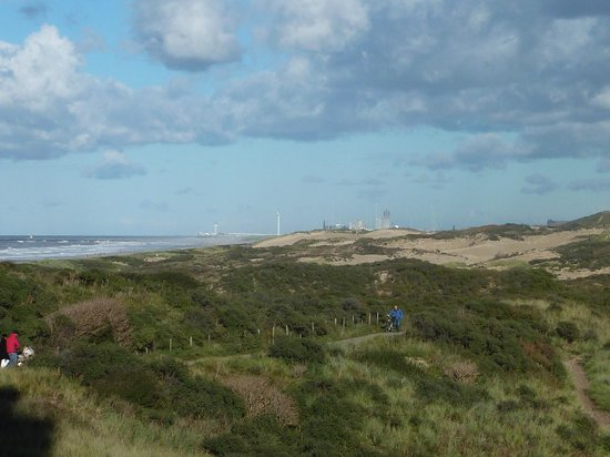 NH Atlantic Den Haag: view on the dunes, in the end you can see Scheveningen