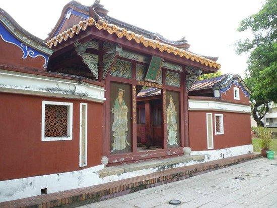 Wufei Temple: 五妃廟正面。ひっそりとした感じであまり観光客は多くない様子。