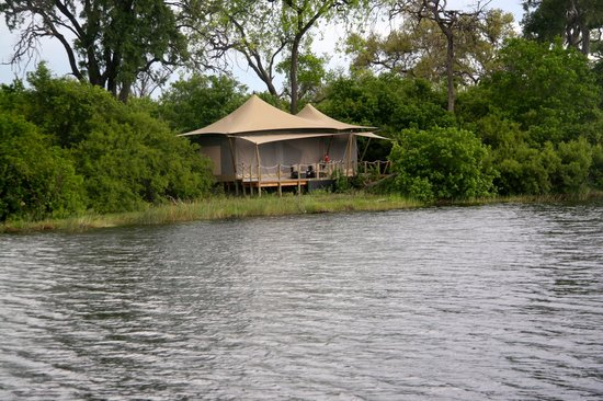 Wilderness Safaris DumaTau Camp: Tent from Pontoon Boat