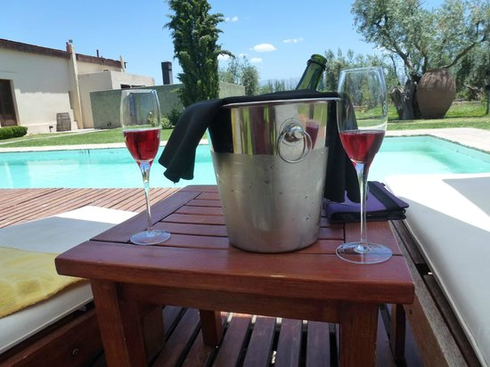 Club Tapiz Hotel: Pool and sparkling Club Tapiz Malbec rosé