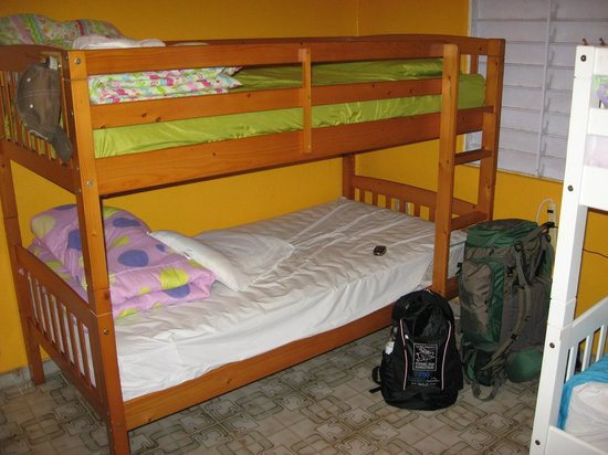 Hostel Bahia Del Paraiso: My bed in the dorm room