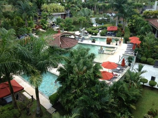 The Royal Corin Thermal Water Spa & Resort: View of pools from room balcony