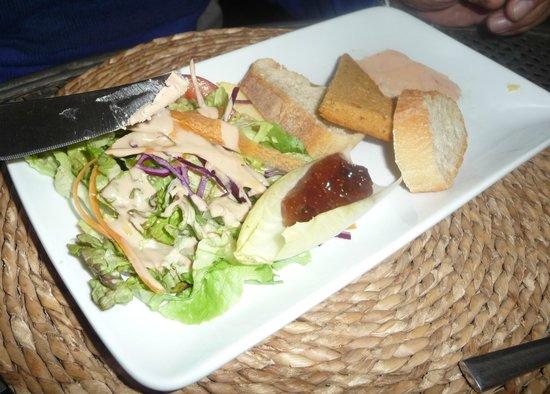 La Cavalerie, فرنسا: Entree - Foie Gras Salad 