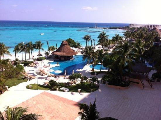 Grand Fiesta Americana Coral Beach Cancun: view from our balcony that was huge.