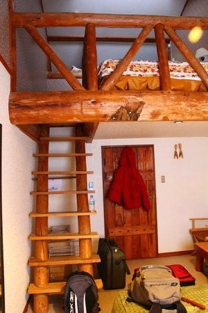 Country Inn Milky House : Fox room, two twin beds and one double upstairs