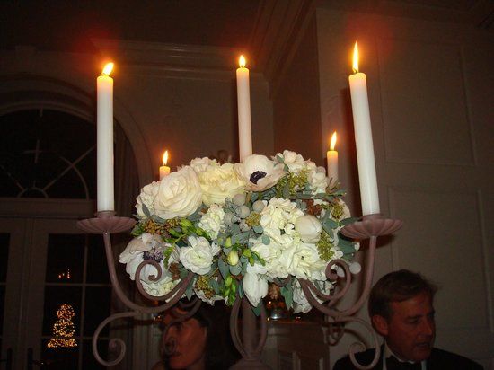 Keswick Hall: Wedding reception centerpieces