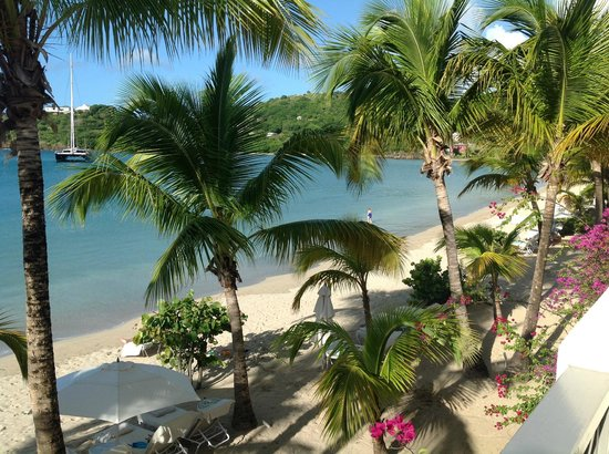 Carlisle Bay Antigua: view from beach suite 1 floor