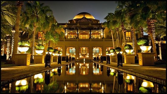 The Palace at One&Only Royal Mirage Dubai: The Palace at night (& Celebrities Restaurant)