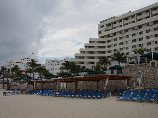 Royal Solaris Cancun Resort view from the beach.
