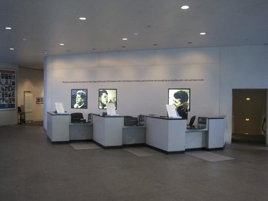 John F Kennedy Presidential Museum Library Ticket Desk