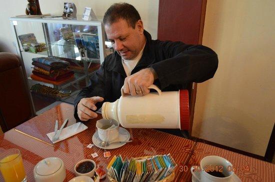 Hostal Chaska : Durante el desayuno