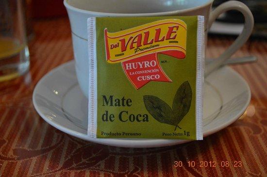 Hostal Chaska : desayuno con mate de coca