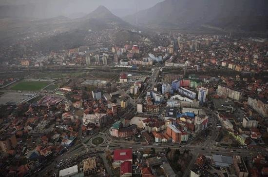 Mitrovica, an overview of the city center, south and north