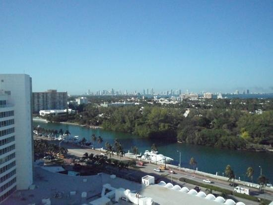 Fontainebleau Miami Beach: view out of room to river/front of hotel