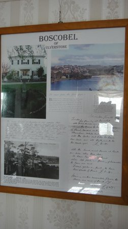 Boscobel of Ulverstone Bed & Breakfast: History of Boscobel