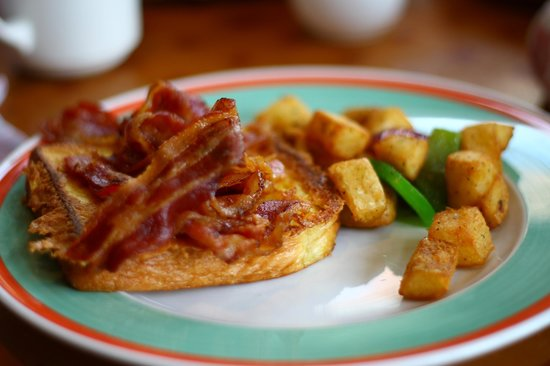 The Marketplace: Perfect french toast, streaky bacon and potatoes.