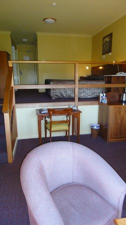 Cradle Mountain Hotel: View up to bedroom