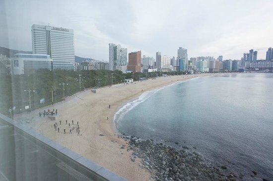 The Westin Chosun Busan: Ocean view room looking out to Haeundae beach