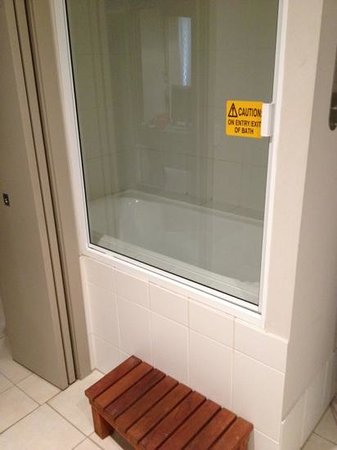 Blue Lagoon Resort: getting into shower. accident waiting to happen