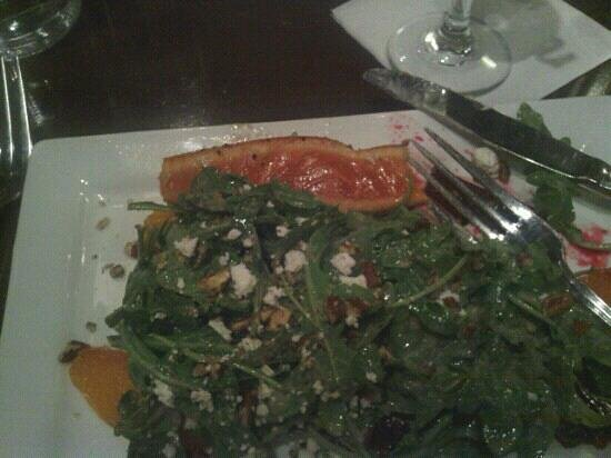 Table 100: arugula beet salad w salmon..as served.???