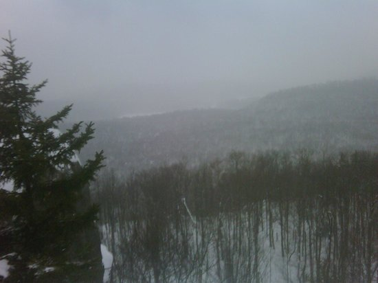 Packbasket Adventures: Snowy View from old Cat Mountain Firetower site