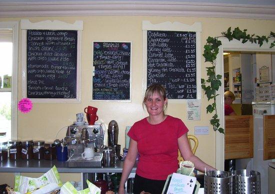 Menus on the Wall at the Riverside Tea Room, Dromore