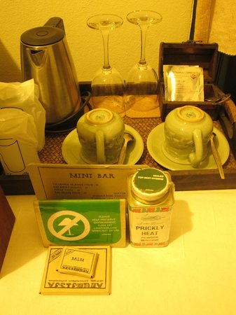 Yesterday: In-room complimentary coffee and tea