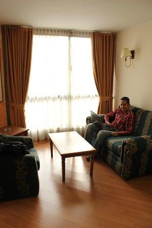 Hotel Baviera: Living room area